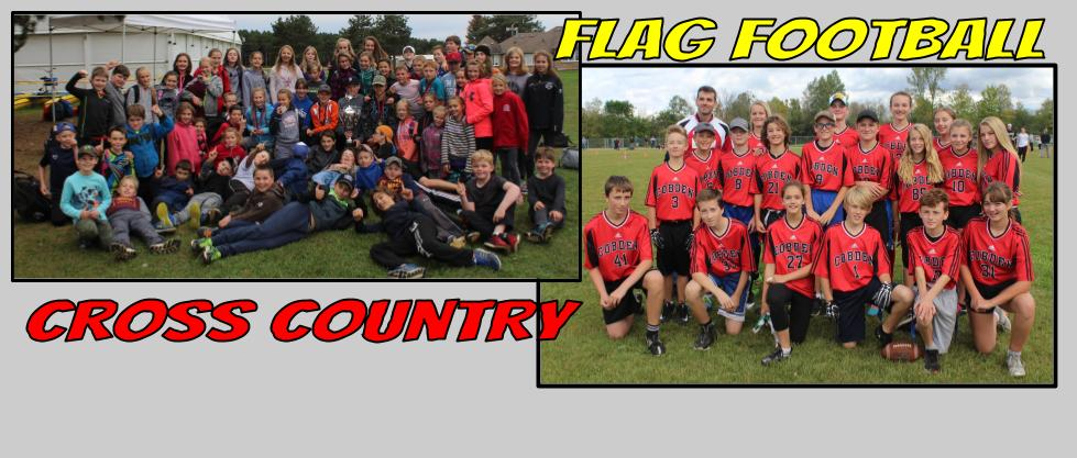 Cross Country and Flag Football Teams