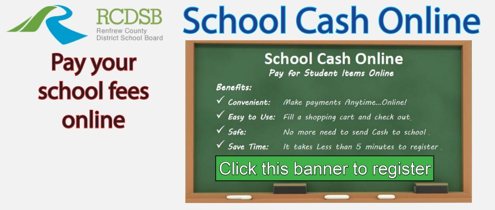 Link to School Cash Online page