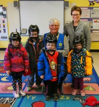 Civitan donation for skating helmets